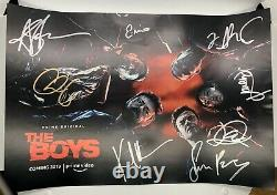 The Boys Cast Hand Signed Poster Amazon Prime NYCC 2018 Exclusive Autographed