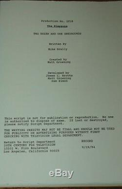 The Simpsons Autographed Hand Signed Original Production Script Uk Uaac Dealer