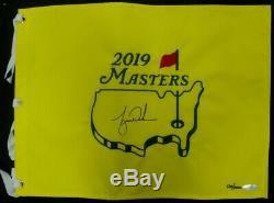 Tiger Woods Hand Signed Autographed 2019 Masters Championship Pin Flag UDA /1000