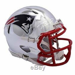 Tom Brady Hand Signed Autographed Chrome Custom Patriots Helmet Steiner COA