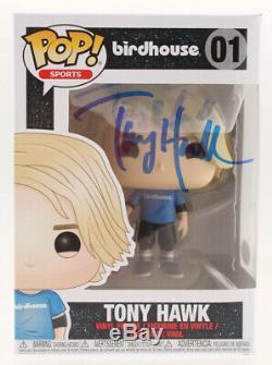 Tony Hawk Autographed Funko Pop! #01 Vinyl Figure Birdhouse Skateboarder & Actor