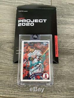 Topps Project 2020 MIKE TROUT /99 Andrew Thiele Artist Signed/Auto IN HAND