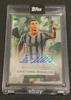 Topps The Greatest Goalscorer of All-Time Cristiano Ronaldo Auto 2/5 in hand