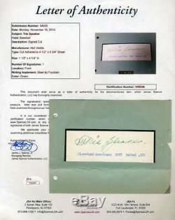 Tris Speaker Jsa Coa Autograph Hand Signed 1930`s Album Page
