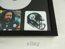 Troy Polamalu Pittsburgh Steelers Autographed Hand Signed Black Jersey with COA
