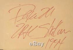 Tupac autograph 2pac autographed signed page 2pac shakur hand signed 1994 RARE