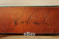 Ultra Rare Autographed John Bianci Hand Carved SAA Western Gun Belt Rig