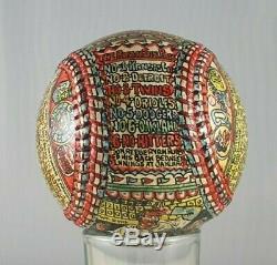 Unique Set of 4 George Sosnak Hand Painted Nolan Ryan Autographed MLB 4 Balls