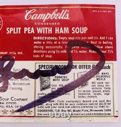 Vintage Andy Warhol Signed Autographed Cambell's Soup Label