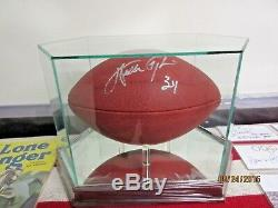 WALTER PAYTON. AUTOGRAPHED OFFICIAL NFL FOOTBALL. MIRRORED CASE. With STEINER COA