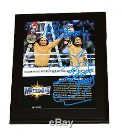 WWE HARDY BOYZ WRESTLEMANIA HAND SIGNED AUTOGRAPHED 10X13 FRAMED PLAQUE WithCOA