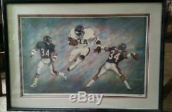 Walter Payton Autograph HOF lithograph Hand Signed 20x30 Andrew Goralski NICE