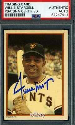 Willie Mays PSA DNA Coa Autograph 1985 Topps Circle K Hand Signed