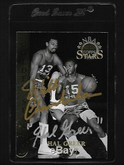 Wilt Chamberlain/Hal Greer 1996 Topps dual hand signed Autograph card withCOA