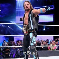 Wwe Aj Styles Ring Worn Hand Signed Royal Rumble Autographed Kickpads With Coa