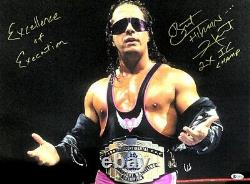 Wwe Bret Hart Hand Signed Autographed 16x20 Photo With Beckett Coa 2 Rare