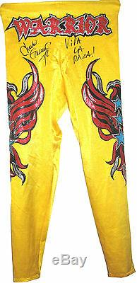 Wwe Chavo Guerrero Ring Worn Hand Signed Autographed Tights With Proof And Coa 3