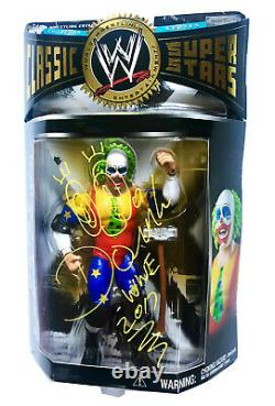 Wwe Classic 6 Doink The Clown Hand Signed Autographed Action Figure With Coa