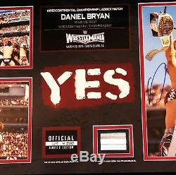 Wwe Daniel Bryan Hand Signed Autographed Wrestlemania Framed Plaque Lmtd To 500