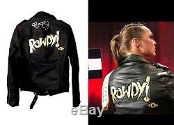 Wwe Ronda Rousey Ring Worn Hand Signed Autographed Jacket With Coa From The Wwe
