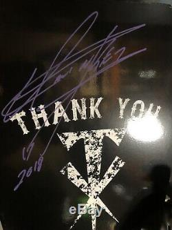 Wwe The Undertaker Hand Signed Autographed Urn With Rip Inscription And Proof