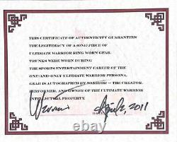 Wwe Ultimate Warrior Hand Signed Autographed Event Worn K&h Wm 7 Trunks With Coa