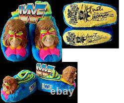 Wwe Ultimate Warrior Original Hand Signed Autographed Slippers With Tags And Coa