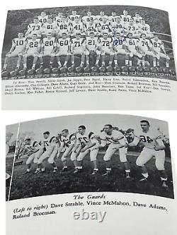 Wwe Vince Mcmahon Hand Signed 1963 Taps Fishburne Military Yearbook With Coa 1/1