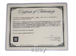 Wwe Wrestlemania 31 Hand Signed Autographed Ring Canvas & Turnbuckle Plaqued Coa