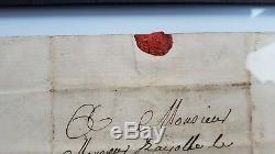 1 Sur 1 1773 Marquis De Sade Lettre Manuscrite Autographiée À La Lettre-sceau De Cire Sadique