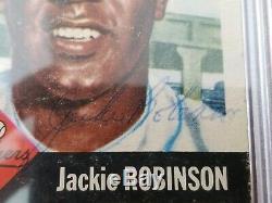 1953 Autographe Topps Jackie Robinson Extrêmement Rare Signé À La Main