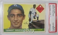1955 Topps Sandy Koufax Authentic Hand Signed Autograph Rookie Card #123 Psa/dna