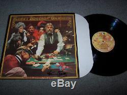 1978 Kenny Rogers Signée À La Main Fiche Album The Gambler Autographié