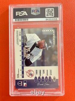 1996 Leaf Signature Auto Rookie Derek Jeter Autographe #67 Rc Carte De Baseball Psa