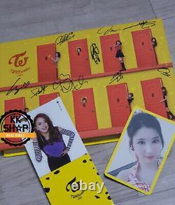 2 Fois Knock Knock Autographié Original Signé Album CD Message À La Main Rare Kpop