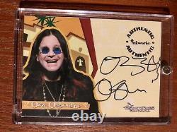 2002 Encres Les Osbournes Ozzy Osbourne Auto Autographique Signée Card