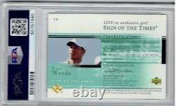 2005 Tiger Woods Sp Authentic Sign Of The Times Auto Psa 9 Mint