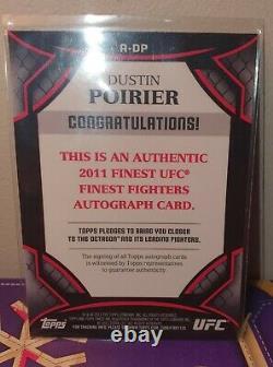 2011 Topps Finest Ufc Dustin Poirier Rookie 1er Auto Sur Carte Signé Rare