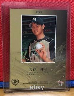 2013 Shohei Ohtani Japonese Bbm Rc Rookie Card Signé À La Main Auto! Réel