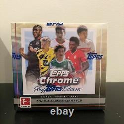 2020-2021 Topps Bundesliga Chrome Sapphire Usine Scellée Boîte Dans La Main