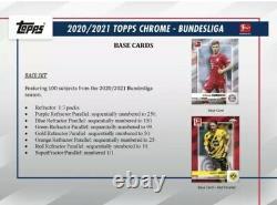 2020-21 Topps Chrome Bundesliga Factory Sealed Hobby Box. En Main Et Pêche 2 Navires