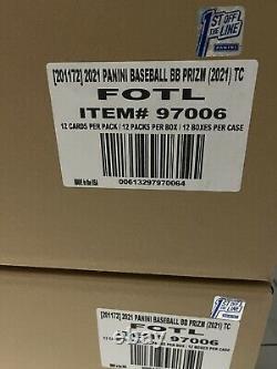 2021 Panini Prizm Baseball Fotl Hobby Box Boites Scellées En Main