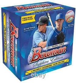 2021 Topps Bowman Sapphire Edition Baseball Hobby Box Scellé Dans Les Navires Expres