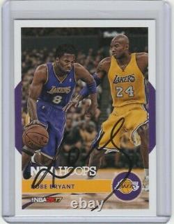 #24 Kobe Bryant Autograph Card Avec Coa Hand Signé Los Angeles Lakers