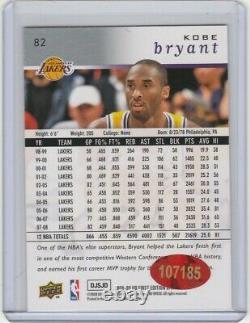 # 24 Kobe Bryant Carte Autograph Avec Coa Signée À La Main Los Angeles Lakers