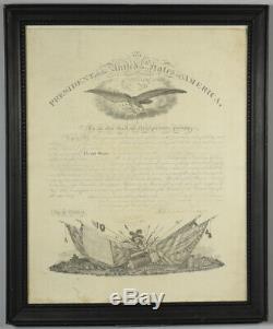 Abraham Lincoln Signature De La Guerre Civile Signée À La Main