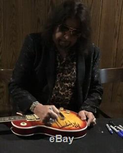 Ace Frehley Signé Baiser Guitar Autographié Guitare Avec Croquis À La Main Et La Preuve Exacte