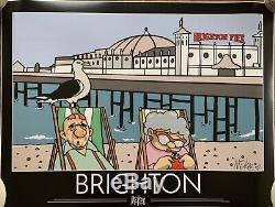 Affiche De Tourisme Pete Mckee Brighton 1 Des 50 Seules Signes Autographe Nouveau