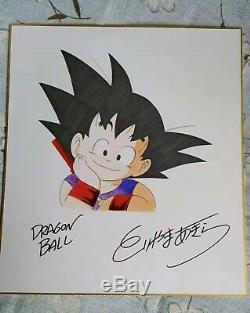 Akira Toriyama Dessiné À La Main Autographié Conseil Shikishi Carte Dragon Ball Art 92019c