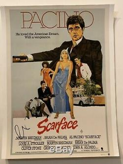 Al Pacino Scarface Autographié 11x14 Affiche Du Film Photo Signée À La Main Parrain